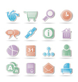 Internet and navigation icons vector