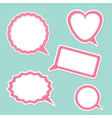 Speech bubble set design elements vector