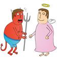 Angel vs devil vector