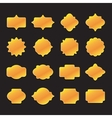 Labels and frame gold set vector