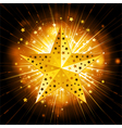 Sparkling gold christmas star vector