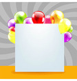 Happy birthday day card with color balloons vector