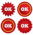 Ok sign icon positive check symbol vector
