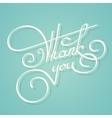 Calligraphy thank you text vector