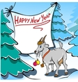 Christmas goat vector
