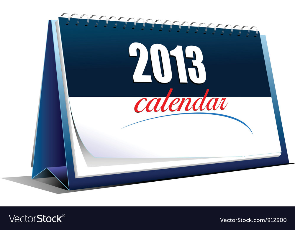 2013 calender stand vector | Price: 1 Credit (USD $1)