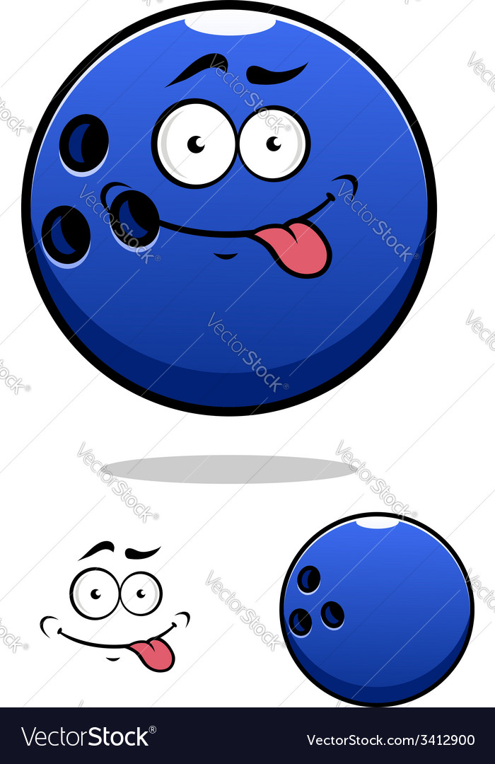 Colorful blue cartoon bowling ball vector | Price: 1 Credit (USD $1)