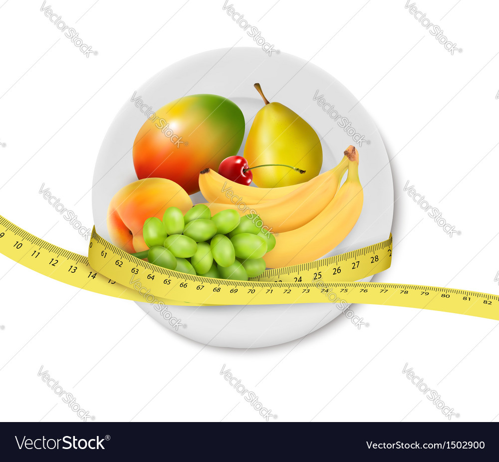 Diet meal fruit vector | Price: 1 Credit (USD $1)