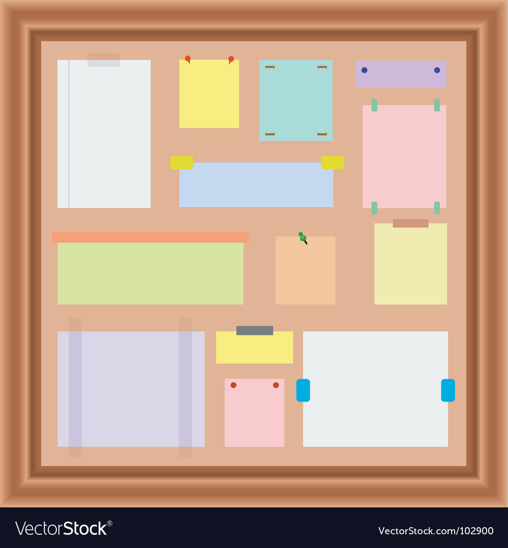 Noticeboard vector | Price: 1 Credit (USD $1)