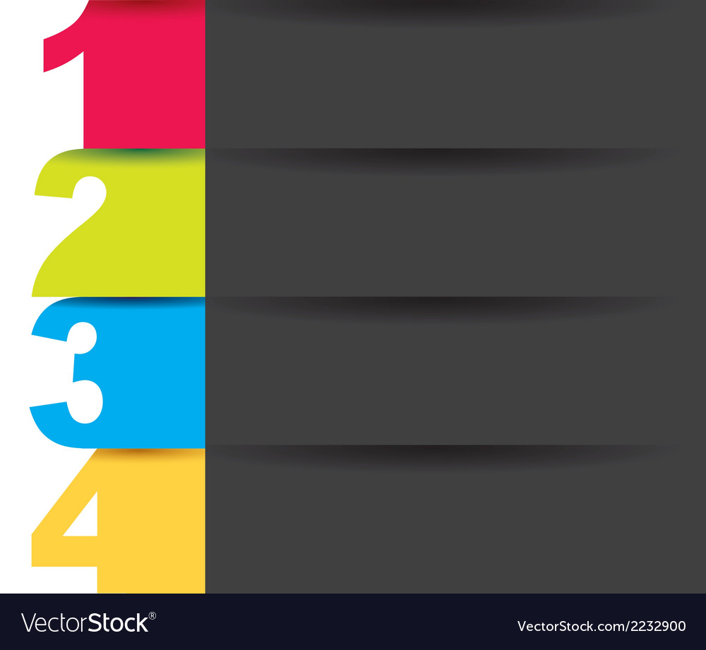 Numbers colors vector | Price: 1 Credit (USD $1)