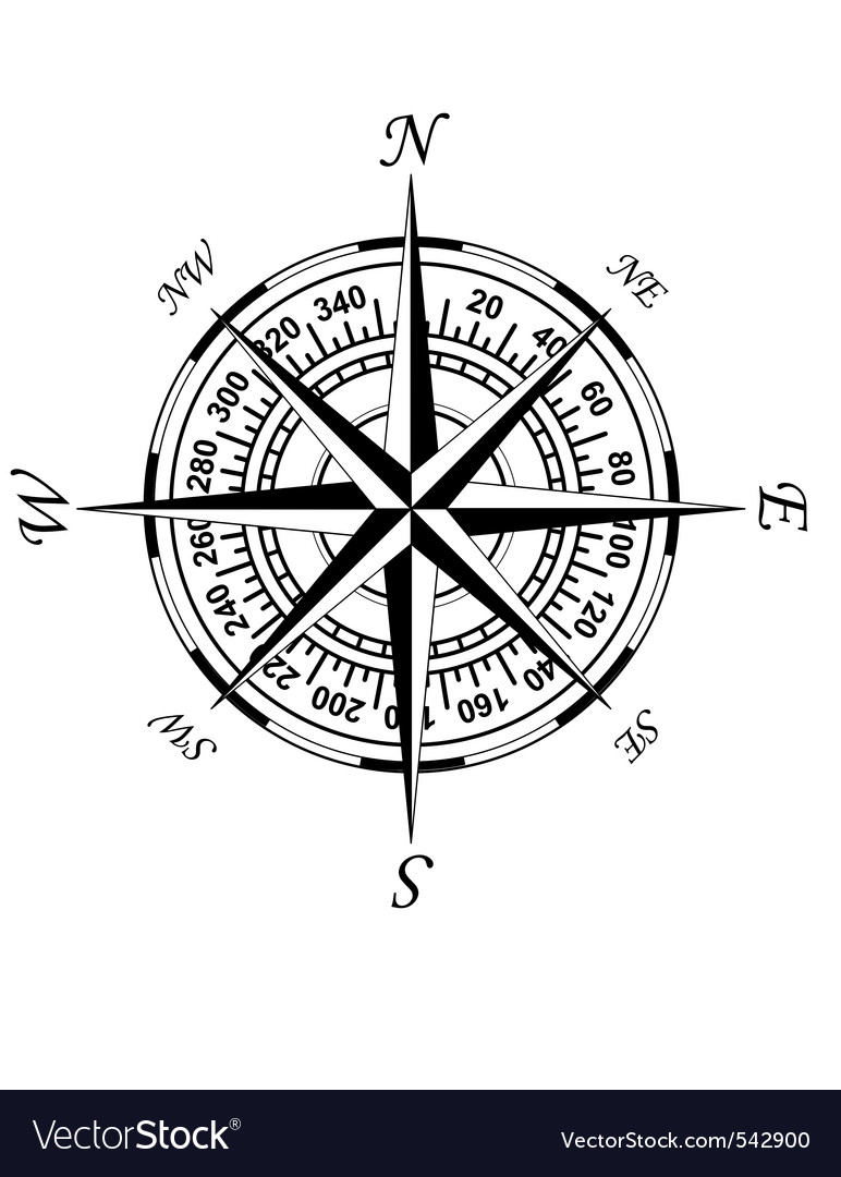 Old compass vector | Price: 1 Credit (USD $1)