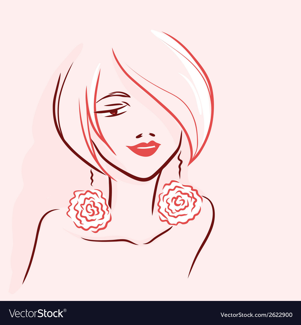 Portrait of woman vector | Price: 1 Credit (USD $1)