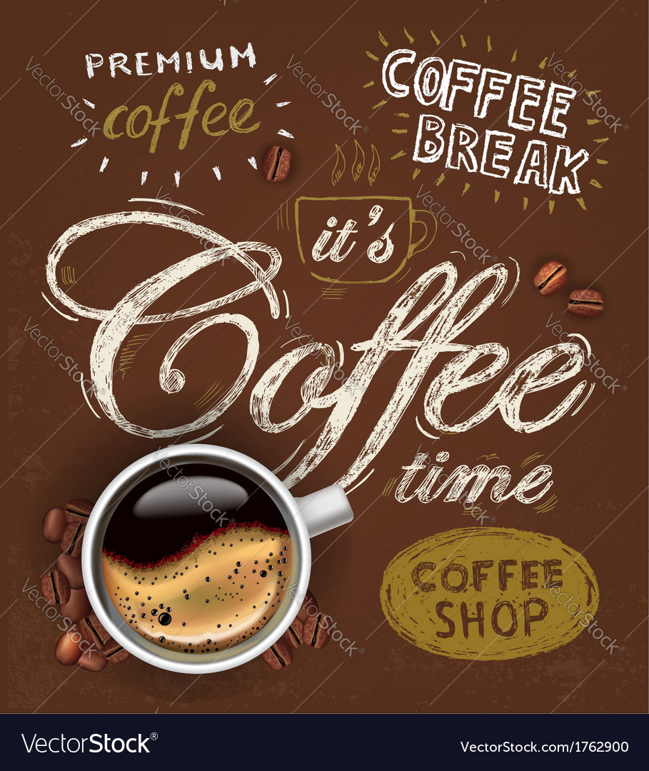 Poster cup of coffee vector | Price: 1 Credit (USD $1)