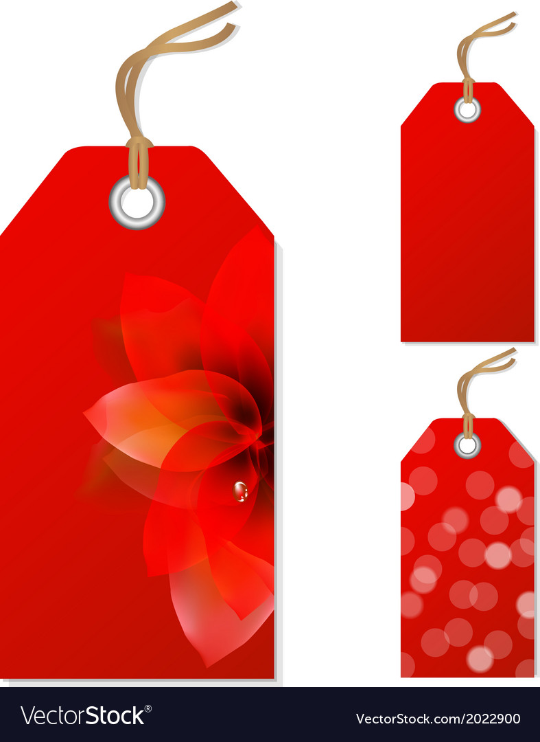 Red sale tags set vector | Price: 1 Credit (USD $1)