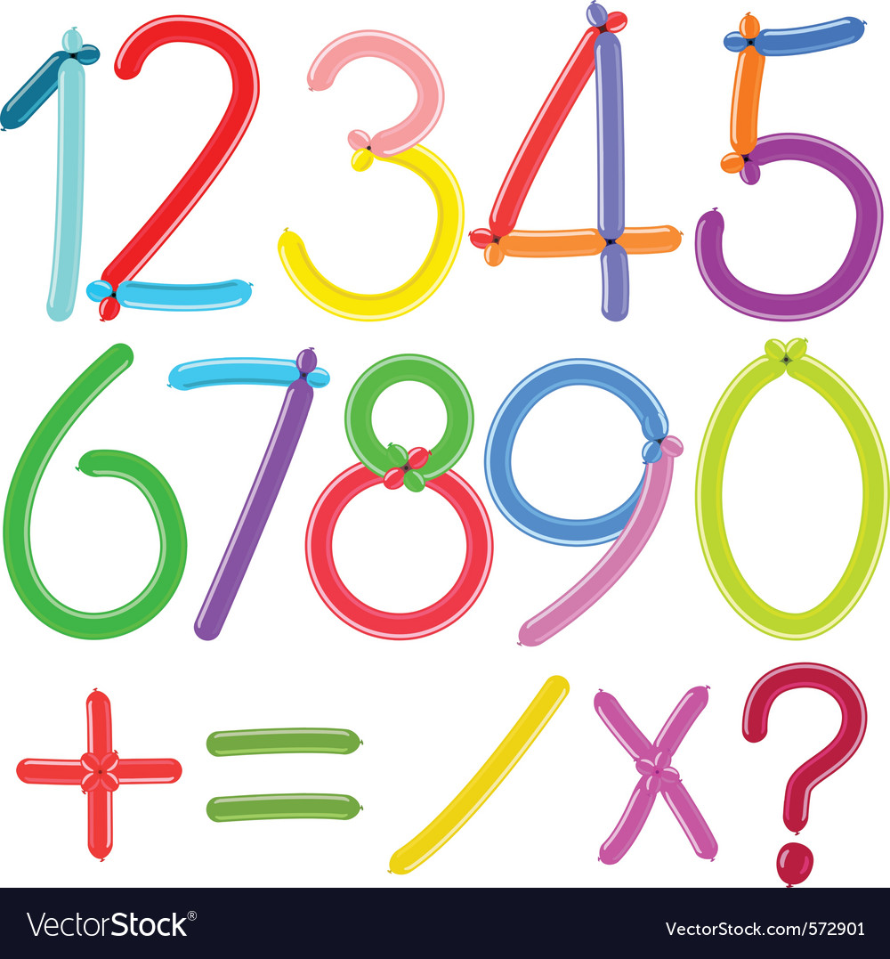 Balloon numbers vector | Price: 1 Credit (USD $1)