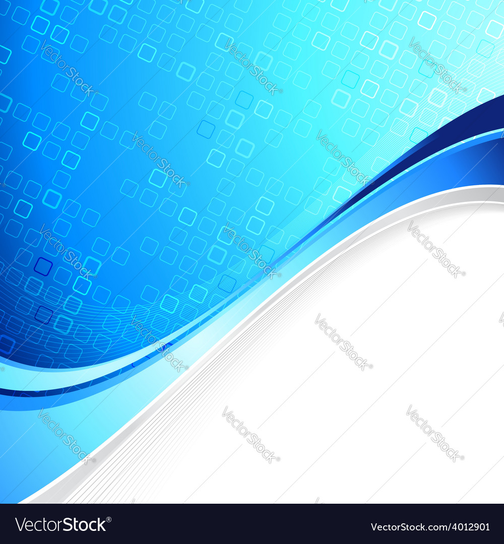 Blue abstract cell background with border element vector | Price: 1 Credit (USD $1)