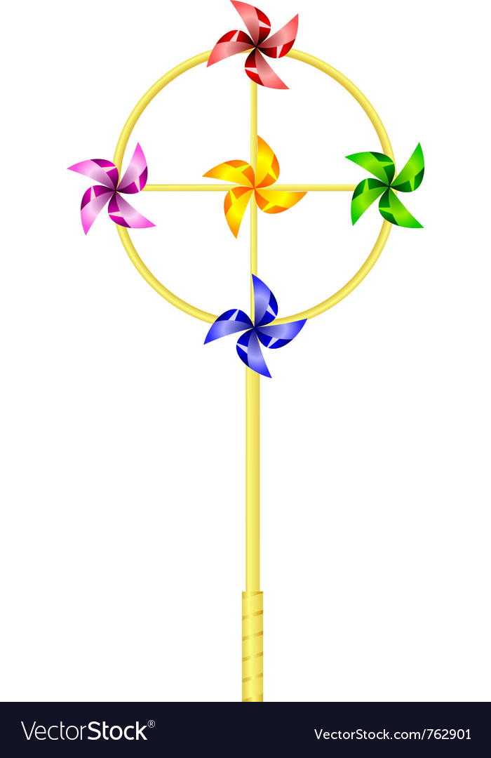 Childrens toy pinwheel vector | Price: 1 Credit (USD $1)