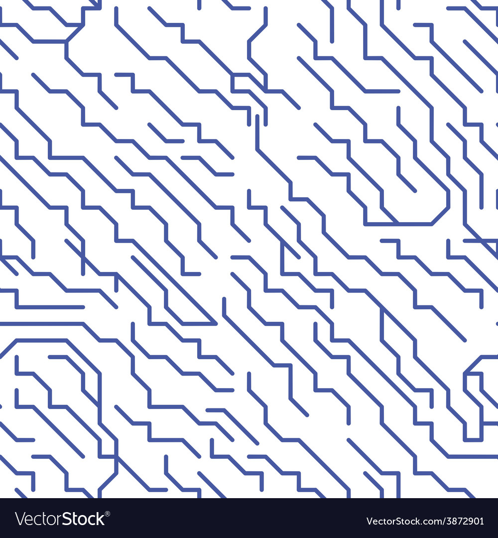 Colorful micro chip lines seamless pattern vector | Price: 1 Credit (USD $1)