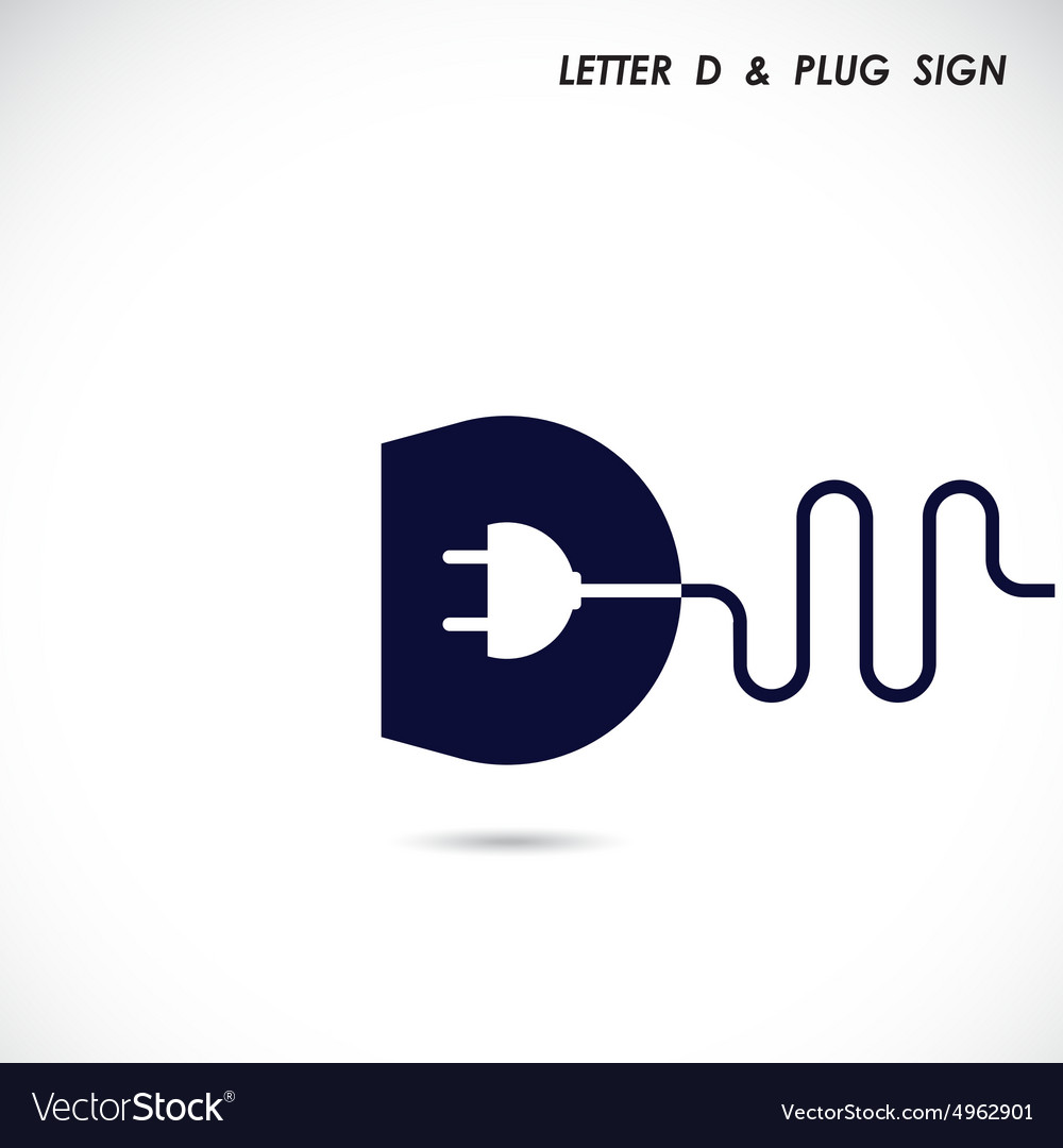 Creative letter d icon abstract logo design vector