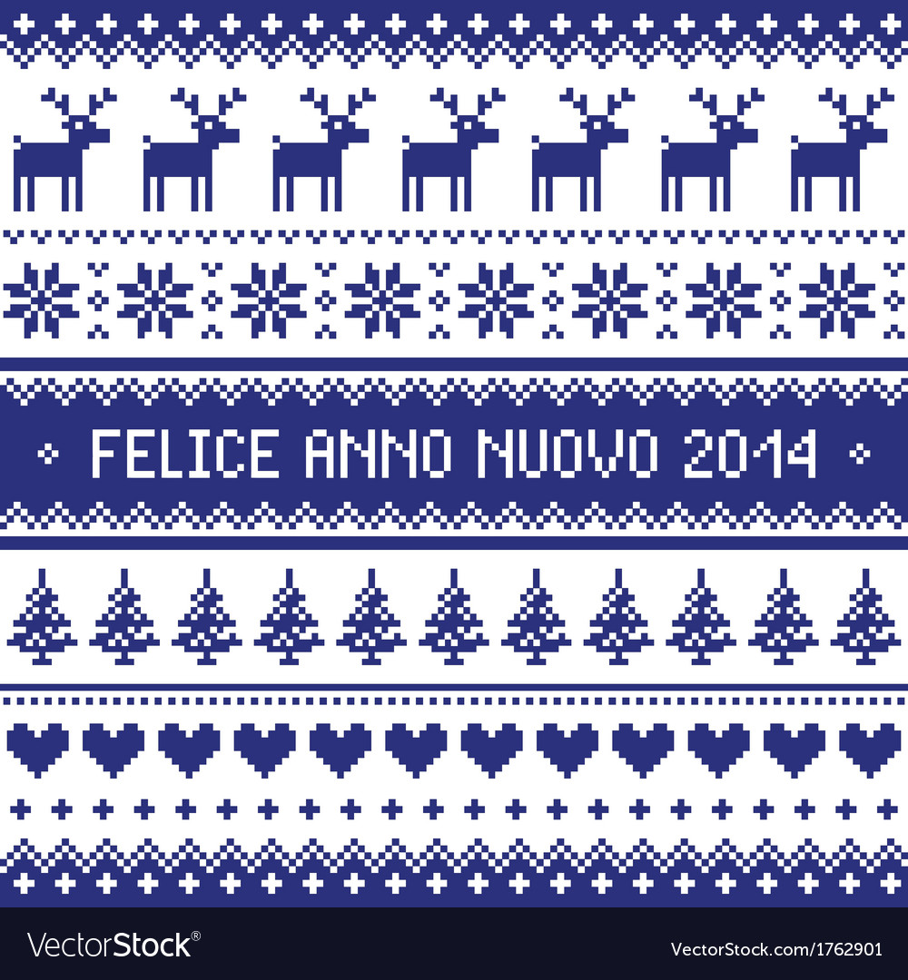 Felice anno nuovo 2014 - italian happy new year vector | Price: 1 Credit (USD $1)