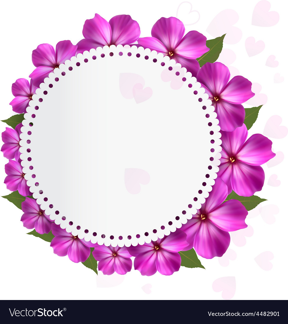 Flower holiday background vector | Price: 3 Credit (USD $3)