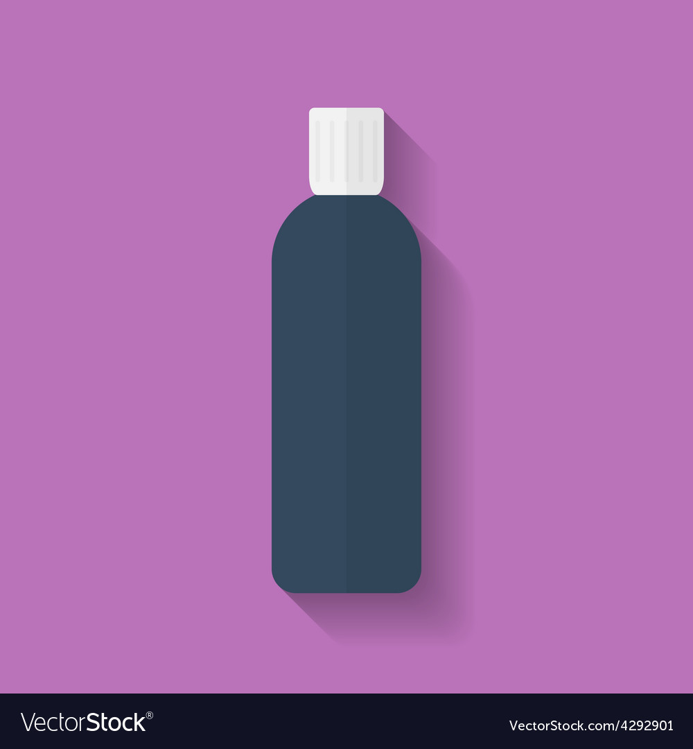 Icon of cosmetic bottle flat style vector | Price: 1 Credit (USD $1)