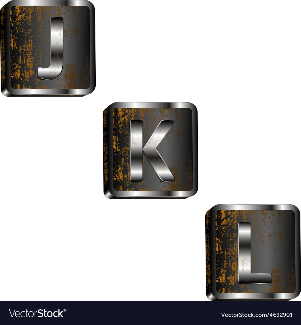 Jkl iron letters vector | Price: 1 Credit (USD $1)