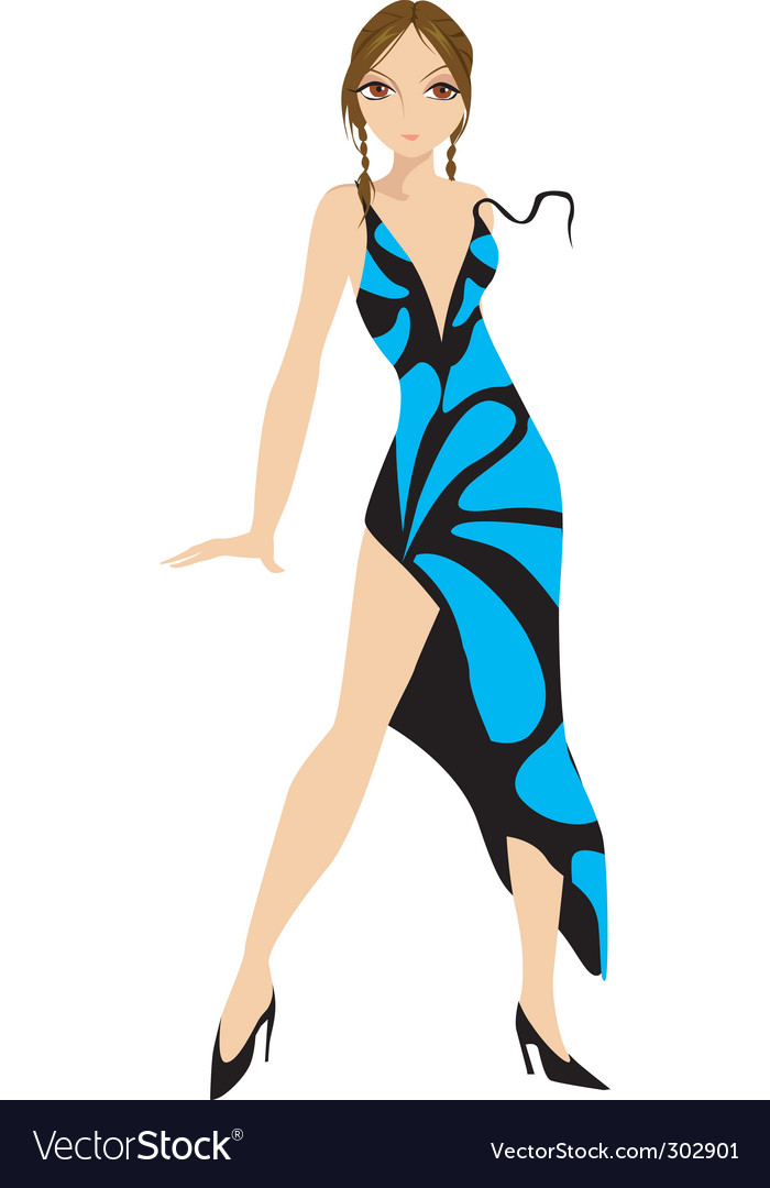 Lady and gown vector | Price: 1 Credit (USD $1)