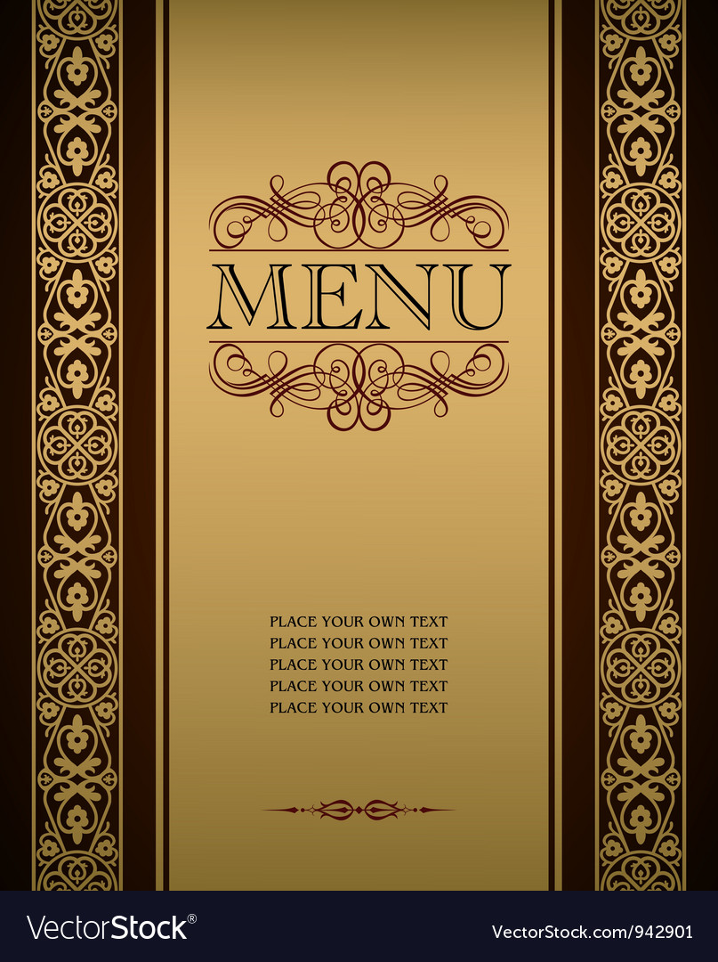 Menu cover vector | Price: 1 Credit (USD $1)