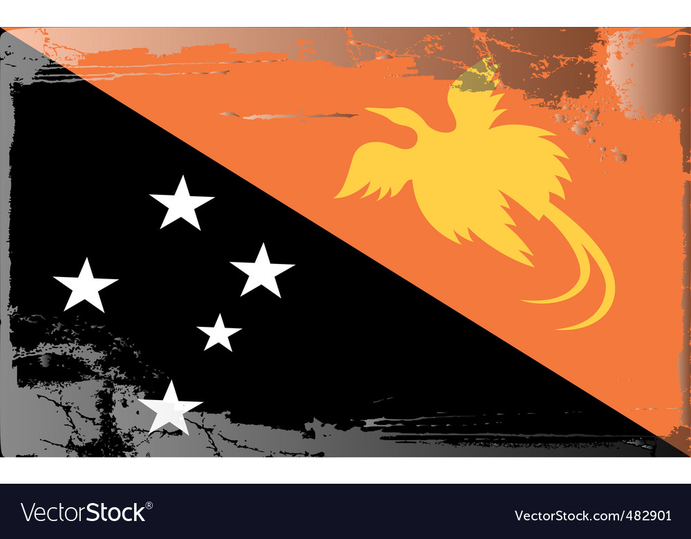 Papa new guinea national flag vector | Price: 1 Credit (USD $1)