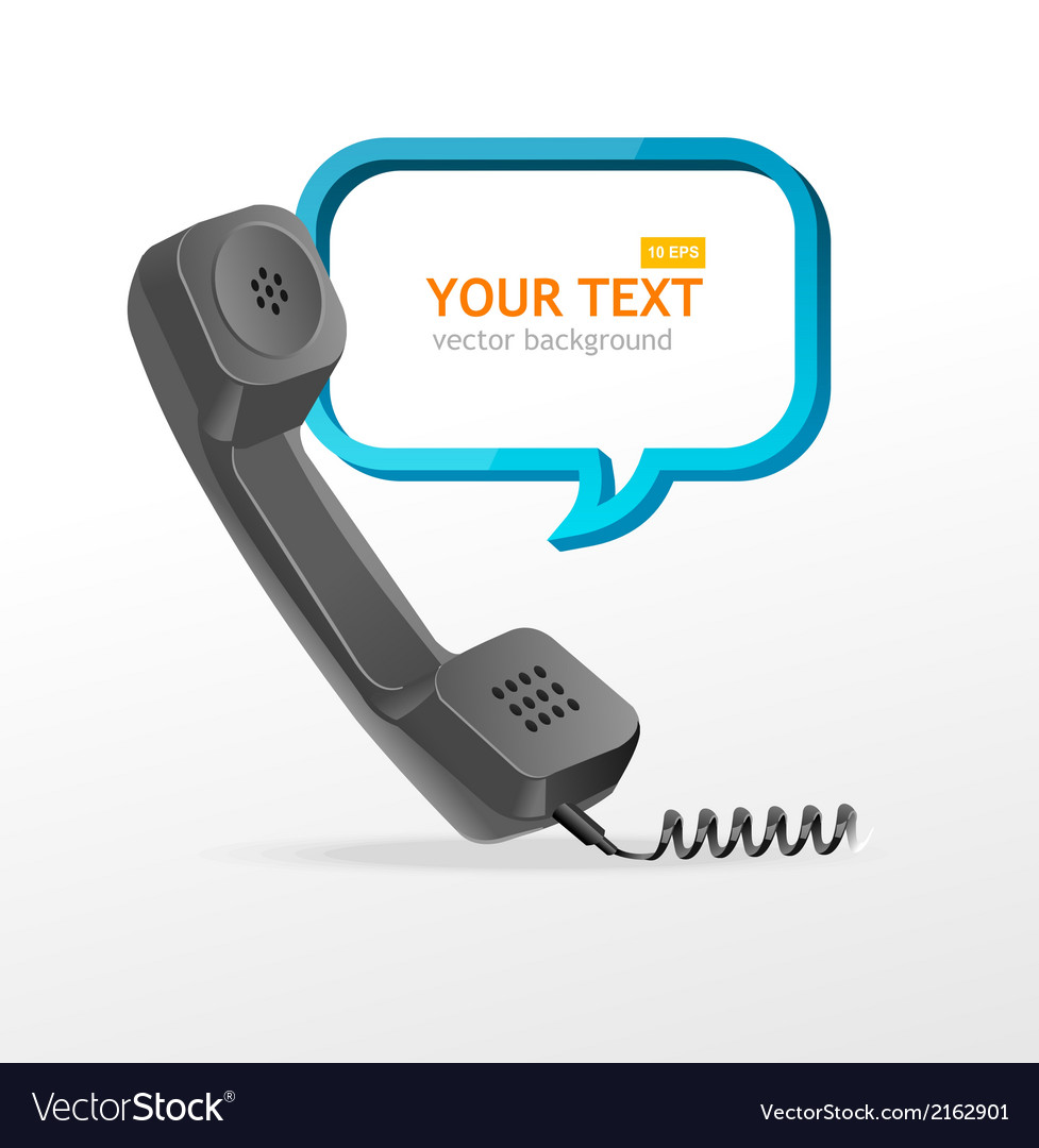 Phone receiver as text box vector | Price: 1 Credit (USD $1)