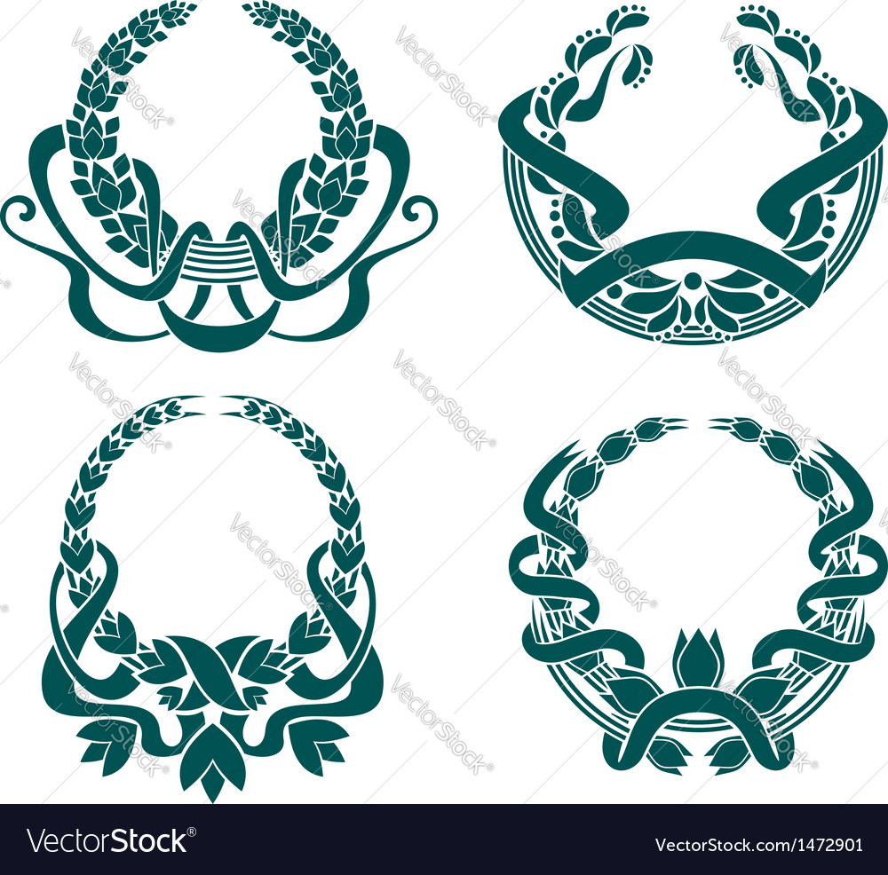 Retro coats of arms vector | Price: 1 Credit (USD $1)