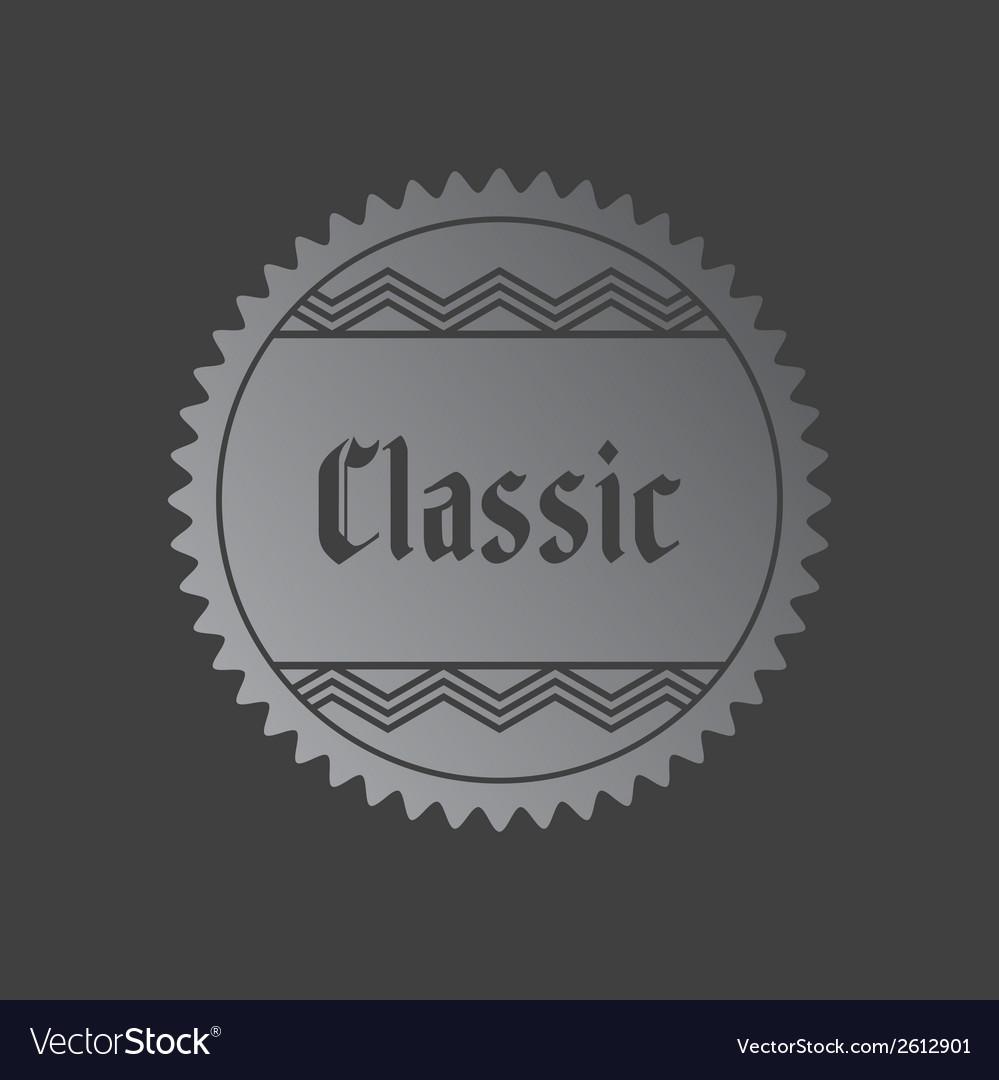 Retro label vector | Price: 1 Credit (USD $1)