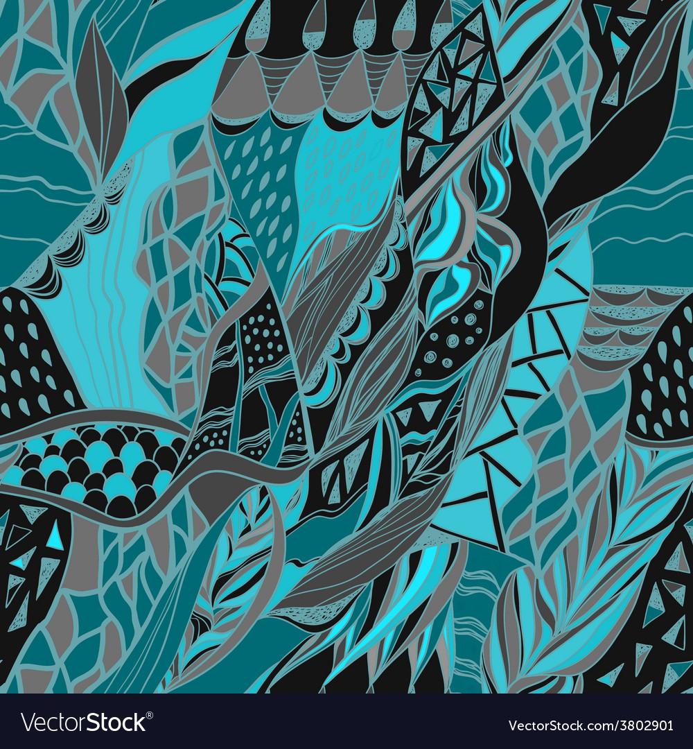 Traditional ornamental paisley bandanna hand drawn vector | Price: 1 Credit (USD $1)
