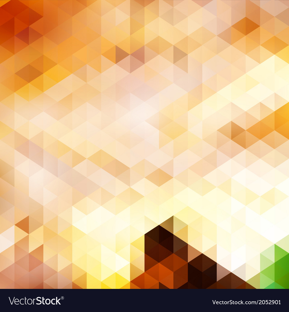 Triangle background in autumn colors vector | Price: 1 Credit (USD $1)