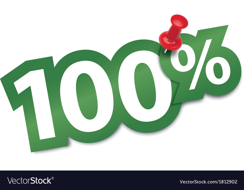 Hundred percent sticker vector | Price: 1 Credit (USD $1)