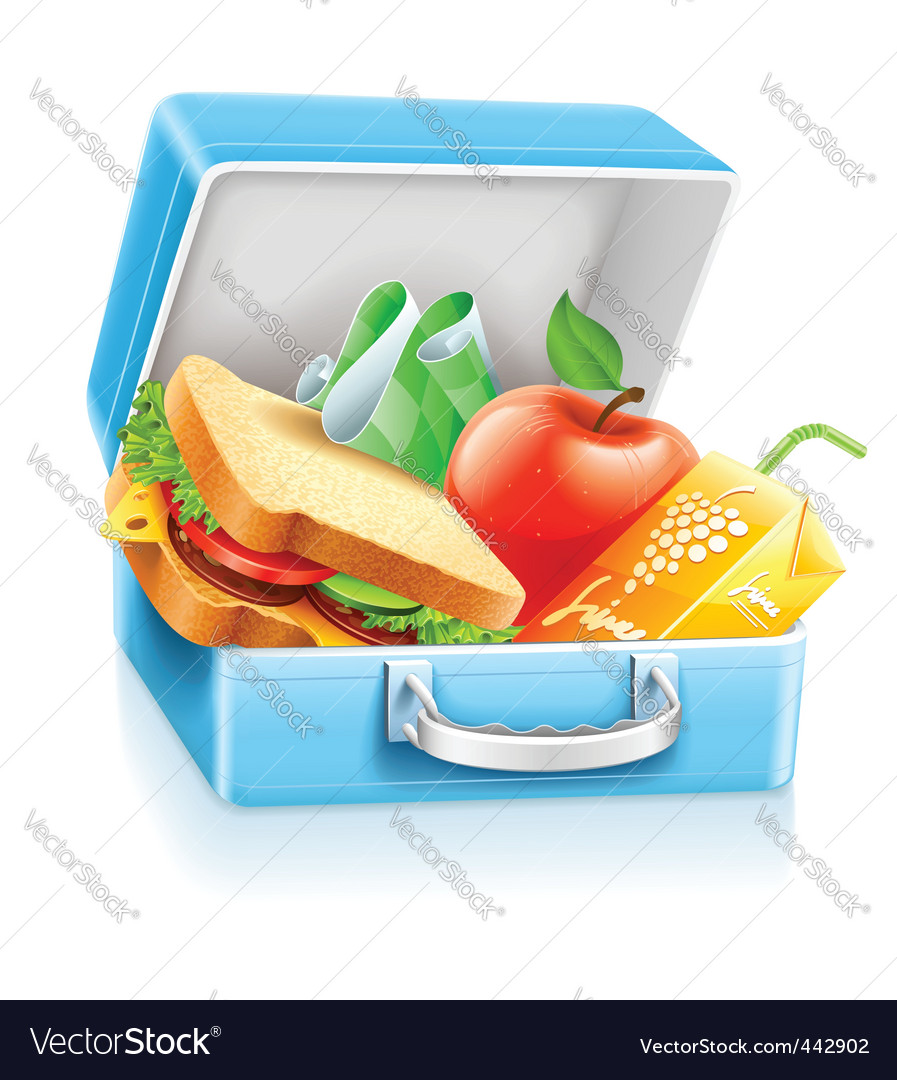 Lunch box with sandwich apple vector | Price: 3 Credit (USD $3)