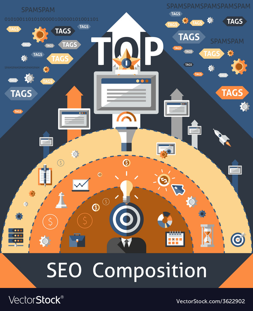 Seo composition vector | Price: 1 Credit (USD $1)