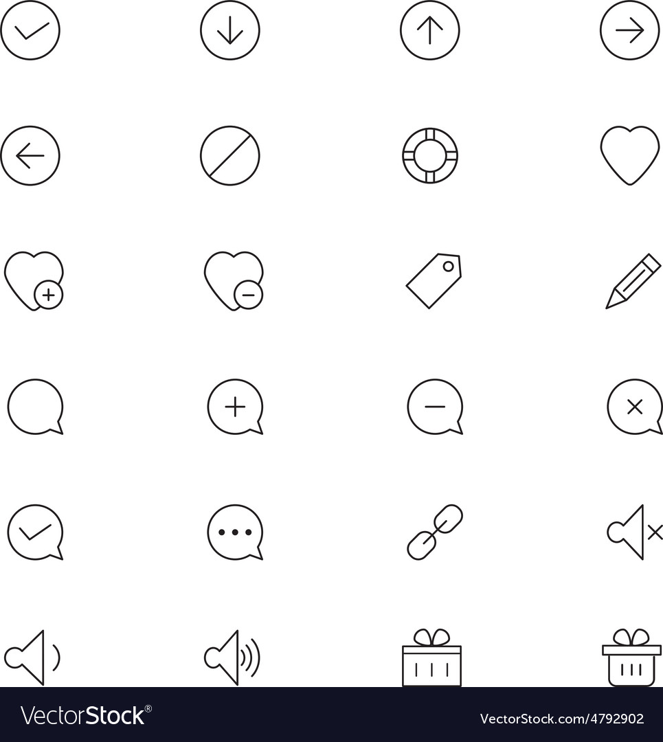 User interface icons 22 vector | Price: 1 Credit (USD $1)
