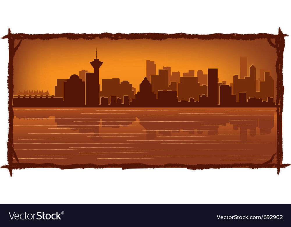 Vancouver skyline vector | Price: 1 Credit (USD $1)