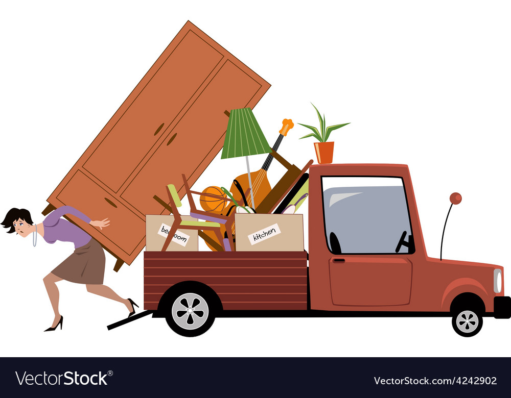 Woman moving vector | Price: 1 Credit (USD $1)