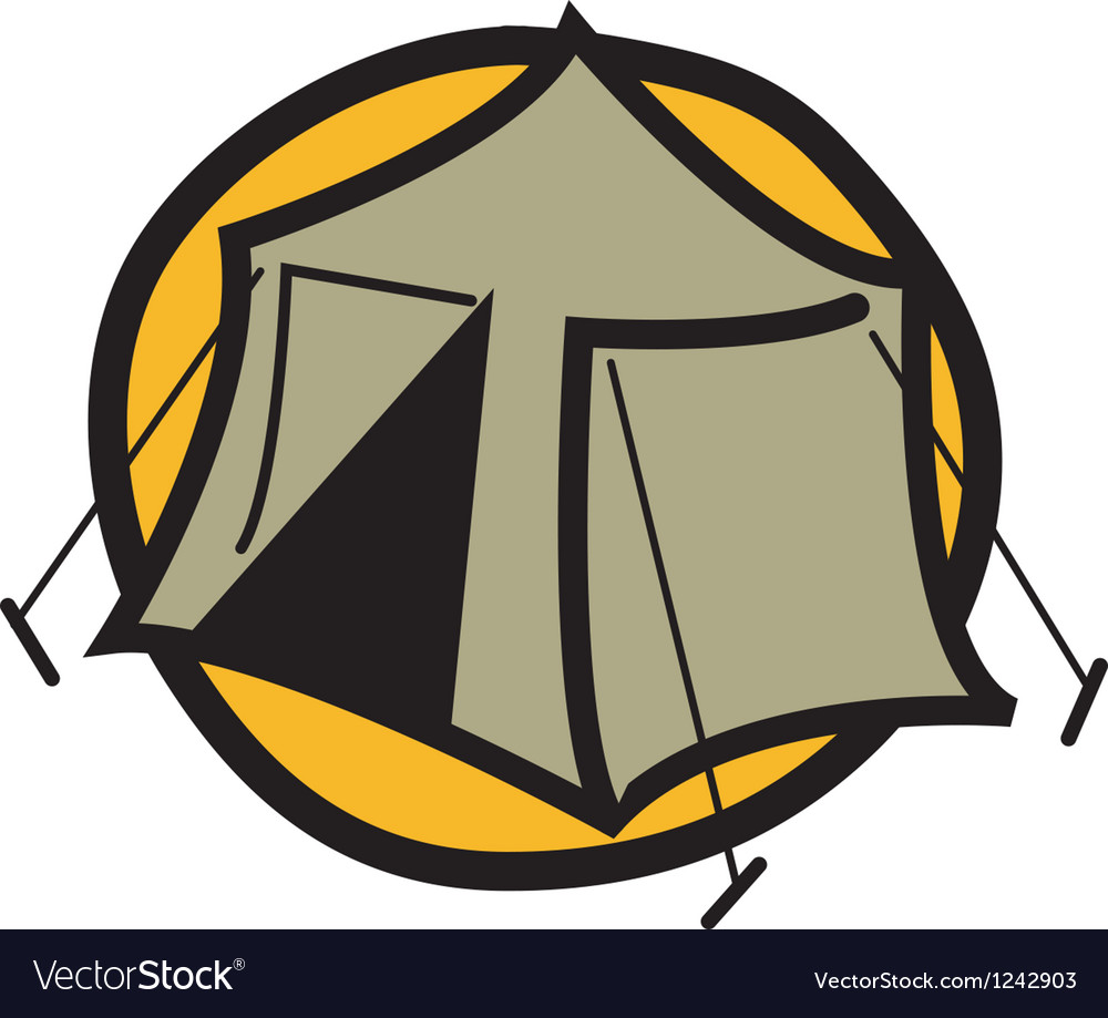 Camping tent logo vector