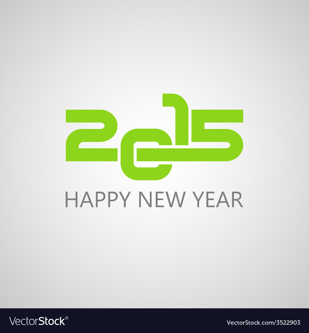 Creative happy new year 2015 design vector | Price: 1 Credit (USD $1)