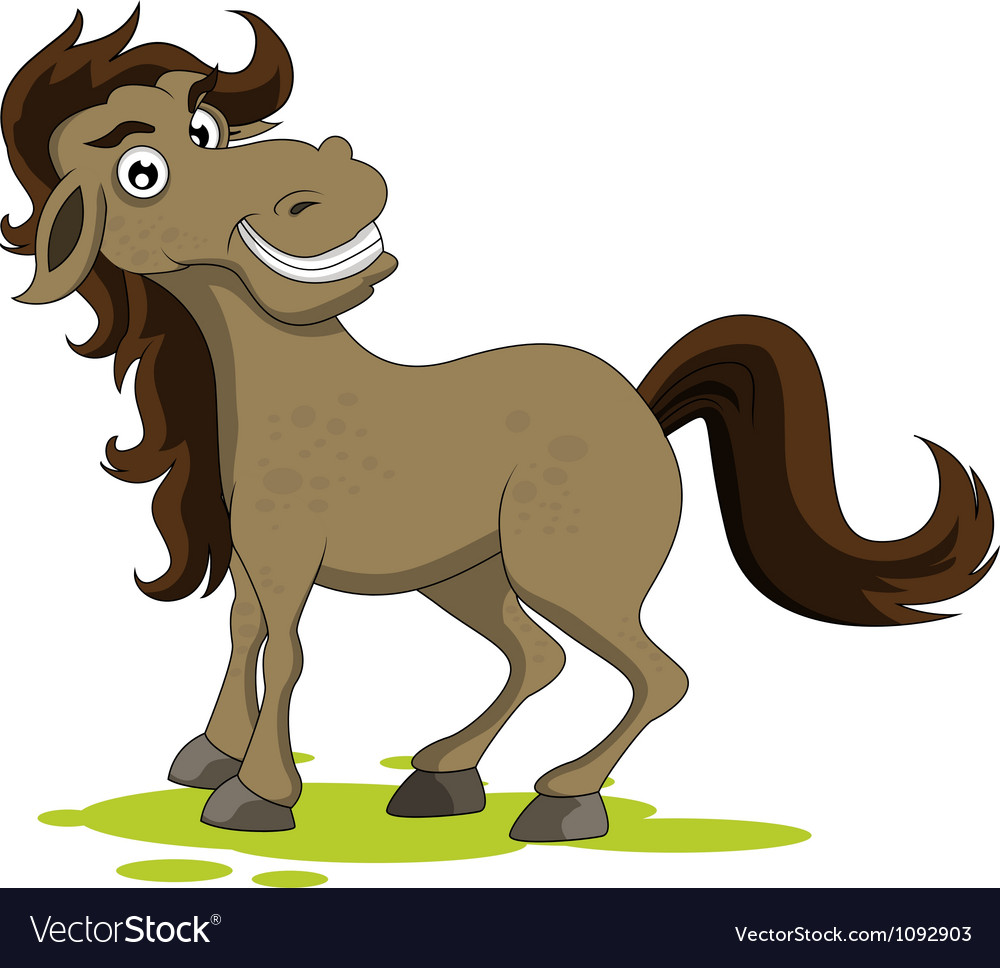 Cute horse smiling vector | Price: 1 Credit (USD $1)