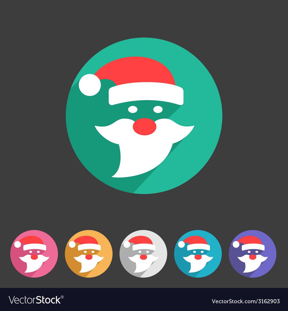 Flat santa claus christmas icon vector | Price: 1 Credit (USD $1)