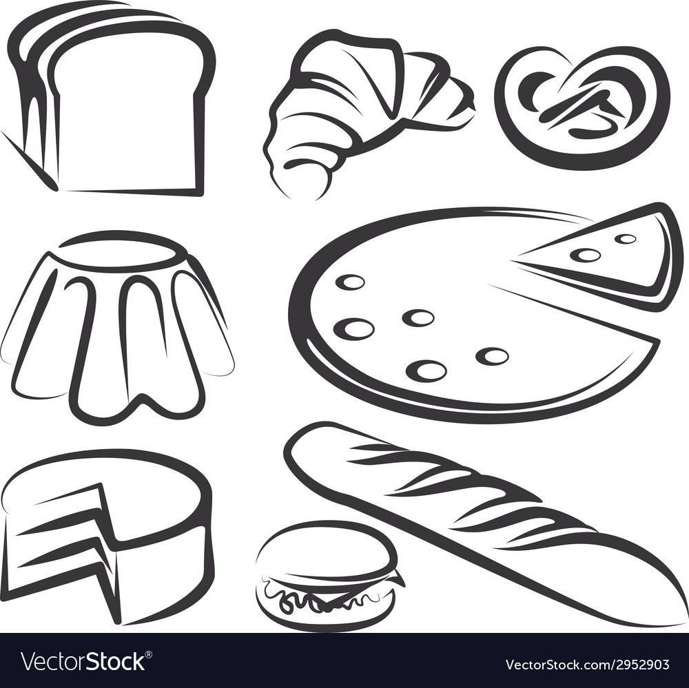Set of baking items vector | Price: 1 Credit (USD $1)