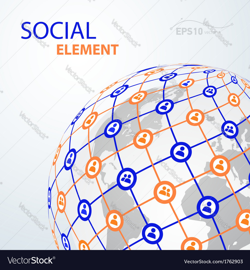 Social element globe worldwide vector | Price: 1 Credit (USD $1)