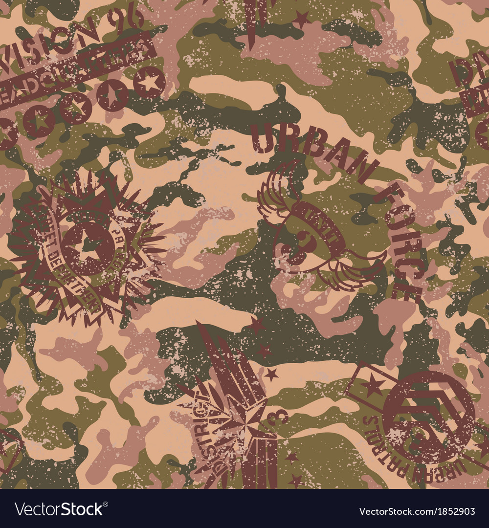 Urban camouflage with military badges vector | Price: 1 Credit (USD $1)