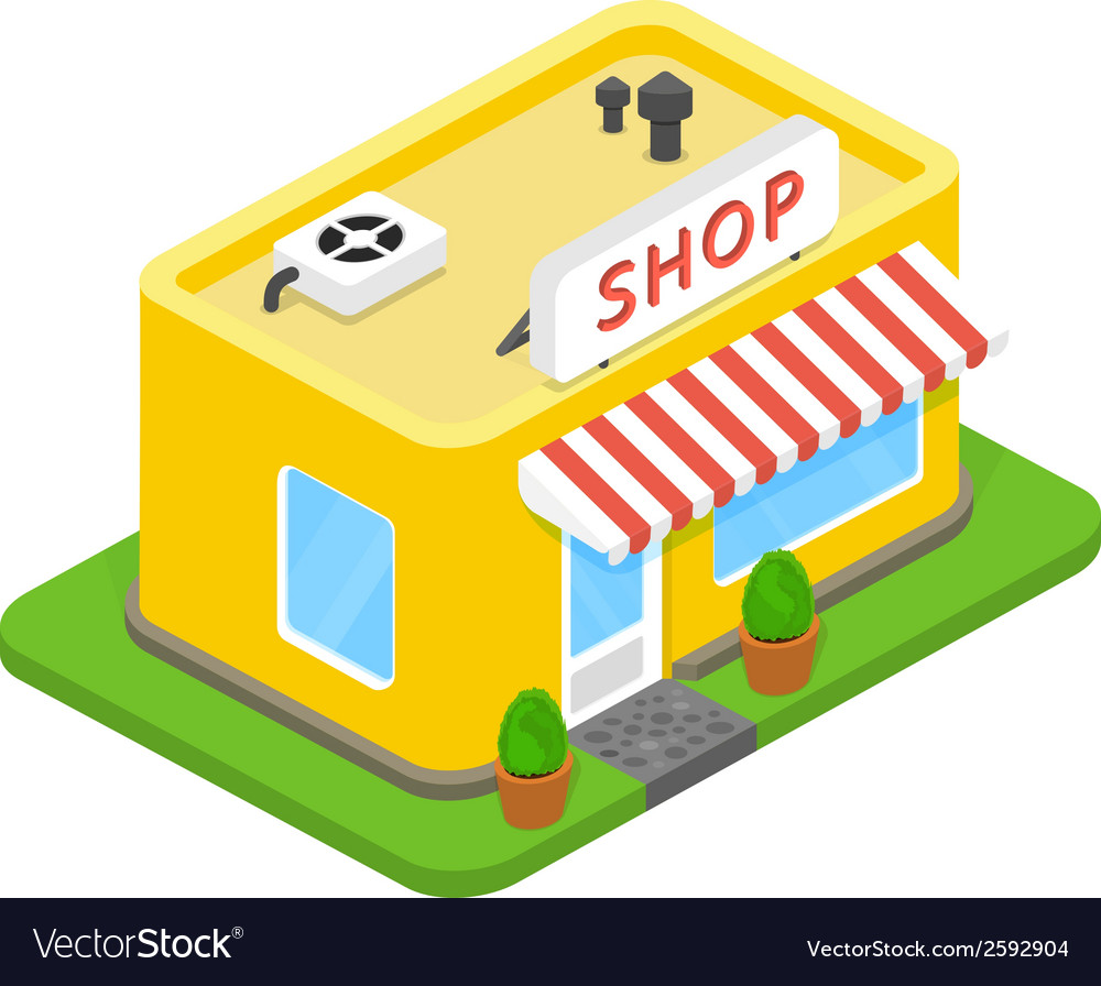3d shop vector | Price: 1 Credit (USD $1)