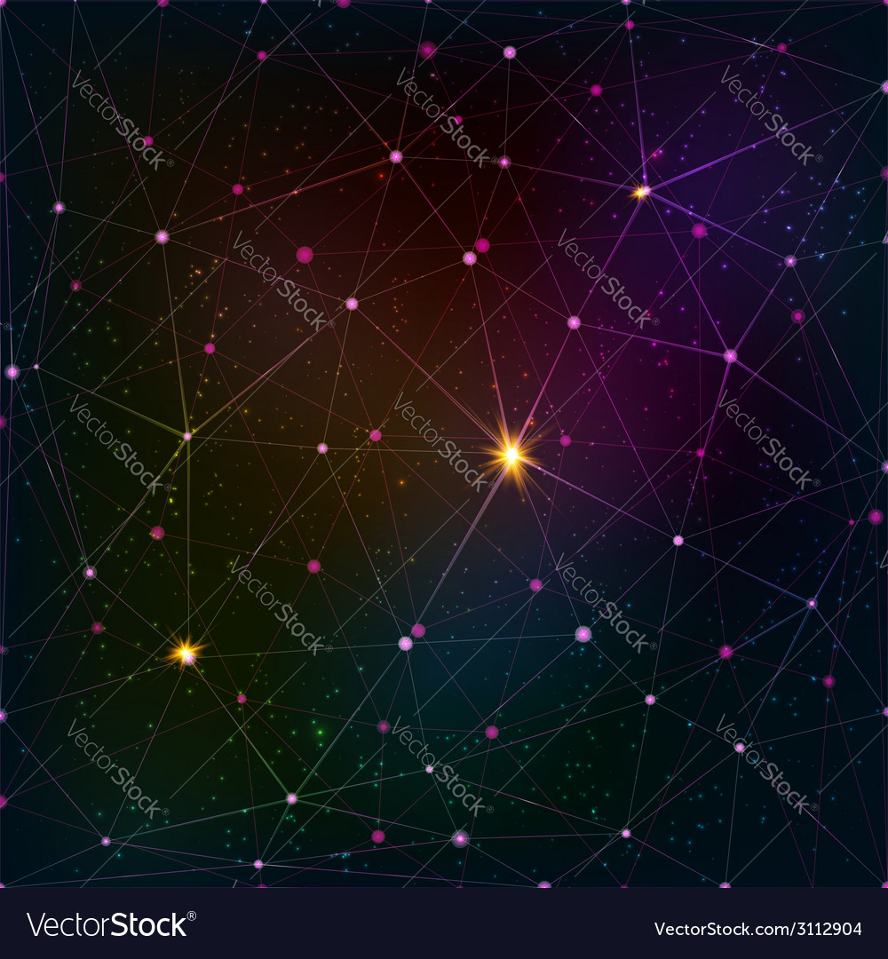 Abstract triangle grid on cosmic background vector | Price: 1 Credit (USD $1)